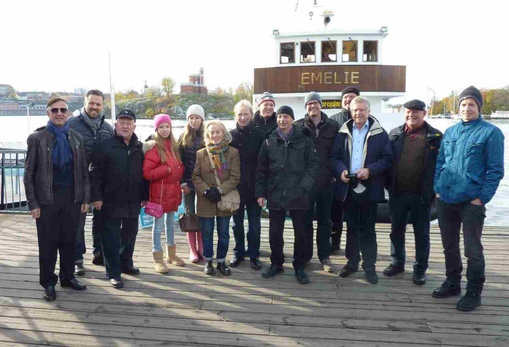 Im Bild die Teilnehmer der Clubreise 2013 nach Stockholm